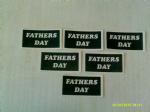 10 - 100 x Fathers Day words stencils for etching on glass   gift hobby craft glassware present Dad